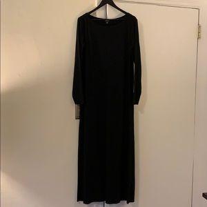 DKNY Stretch Wool Jersey Maxi Dress
